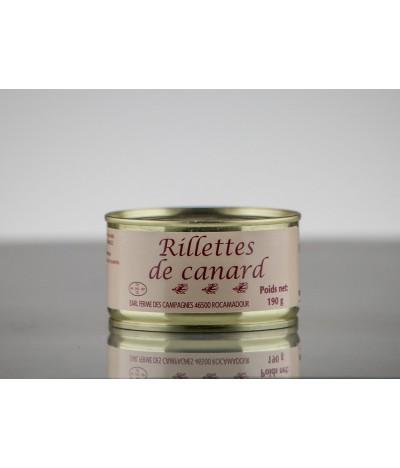RILLETTES  DE CANARD 190 GR