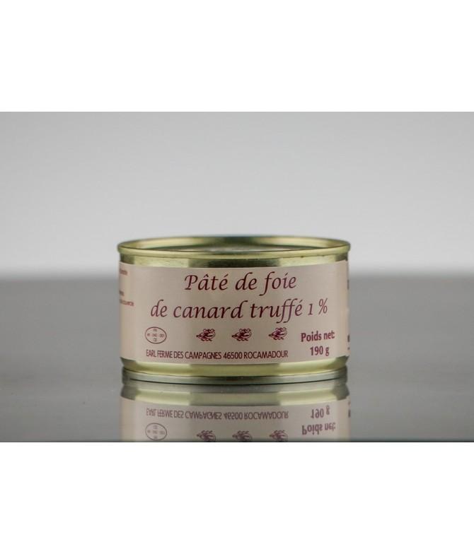 PÂTE DE FOIE GRAS DE CANARD TRUFFE 1%