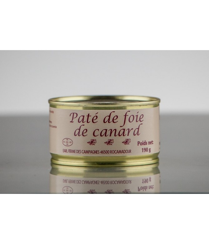 PÂTÉ DE FOIE GRAS DE CANARD 190 GR