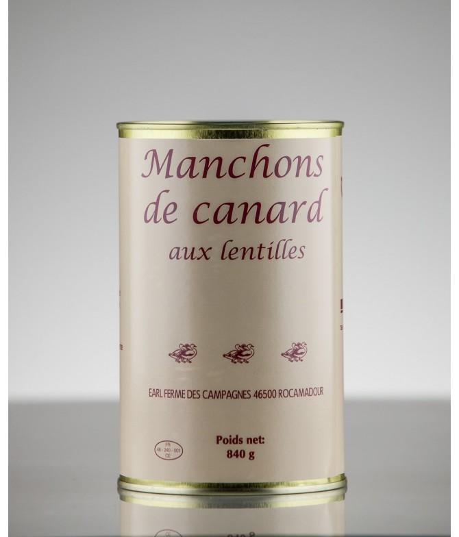 MANCHONS DE CANARD AUX LENTILLES 3 PARTS