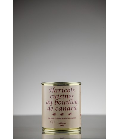HARICOTS CUISINES AU BOUILLON DE CANARD