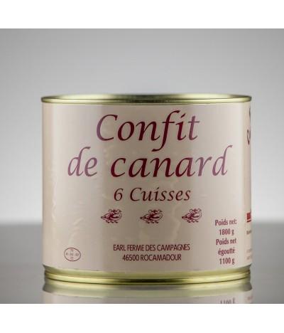 CONFIT DE CANARD 6 CUISSES 6P