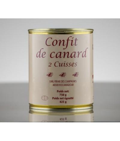 CONFIT DE CANARD 2 CUISSES 2P