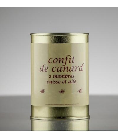 CONFIT DE CANARD CUISSE ET AILE 3P