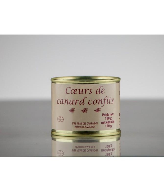 CŒURS DE CANARD CONFITS 120 GR